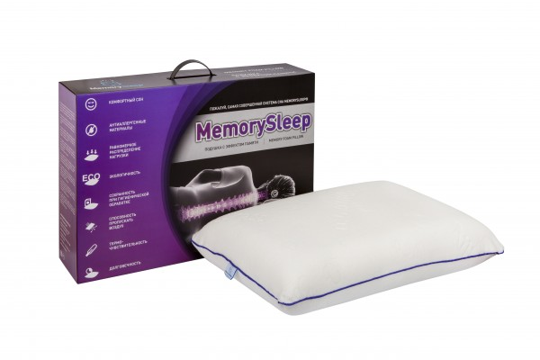 Анатомическая подушка с эффектом памяти MemorySleep DOS